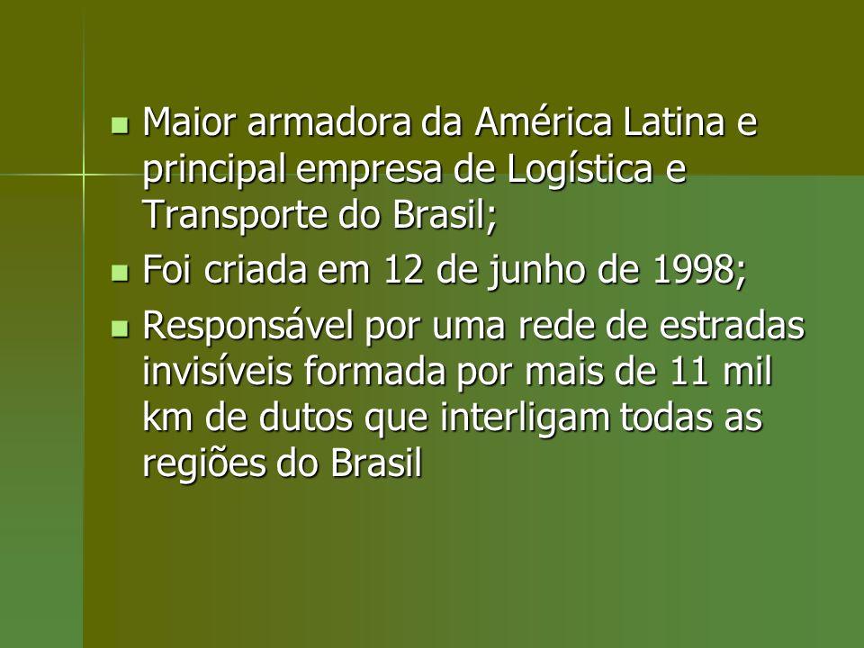 Maior armadora da América Latina e principal empresa de Logística e Transporte do Brasil; Maior armadora da América Latina e principal empresa de Logí
