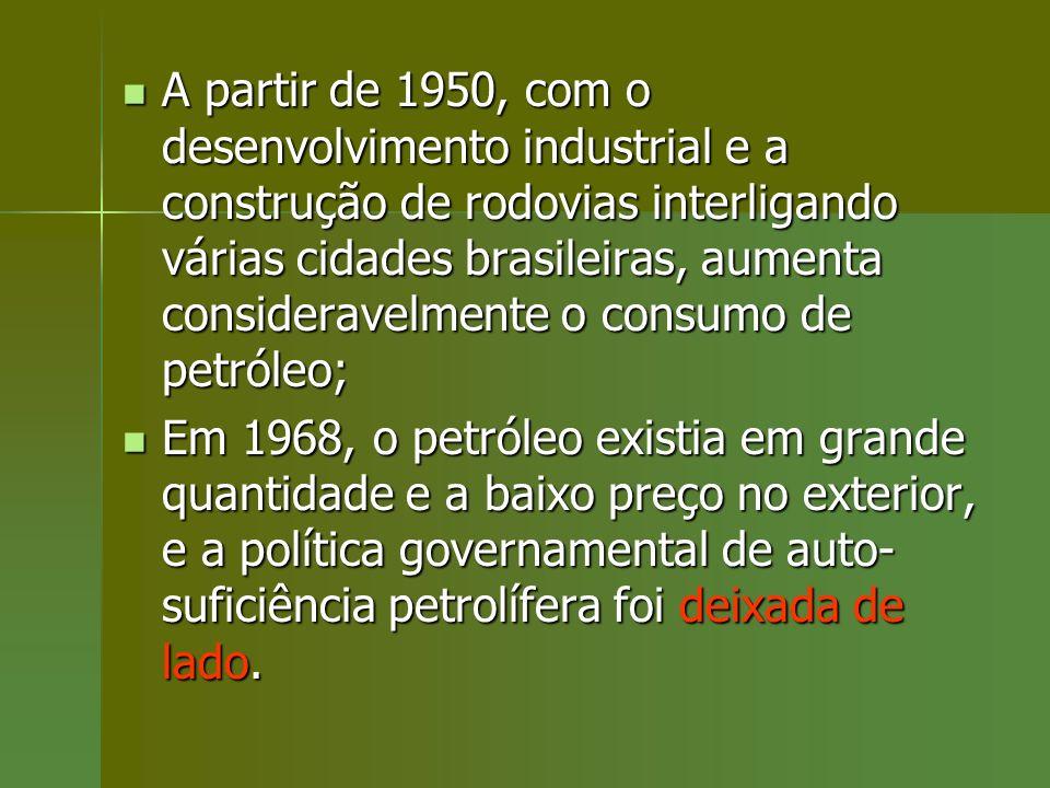 A partir de 1950, com o desenvolvimento industrial e a construção de rodovias interligando várias cidades brasileiras, aumenta consideravelmente o con