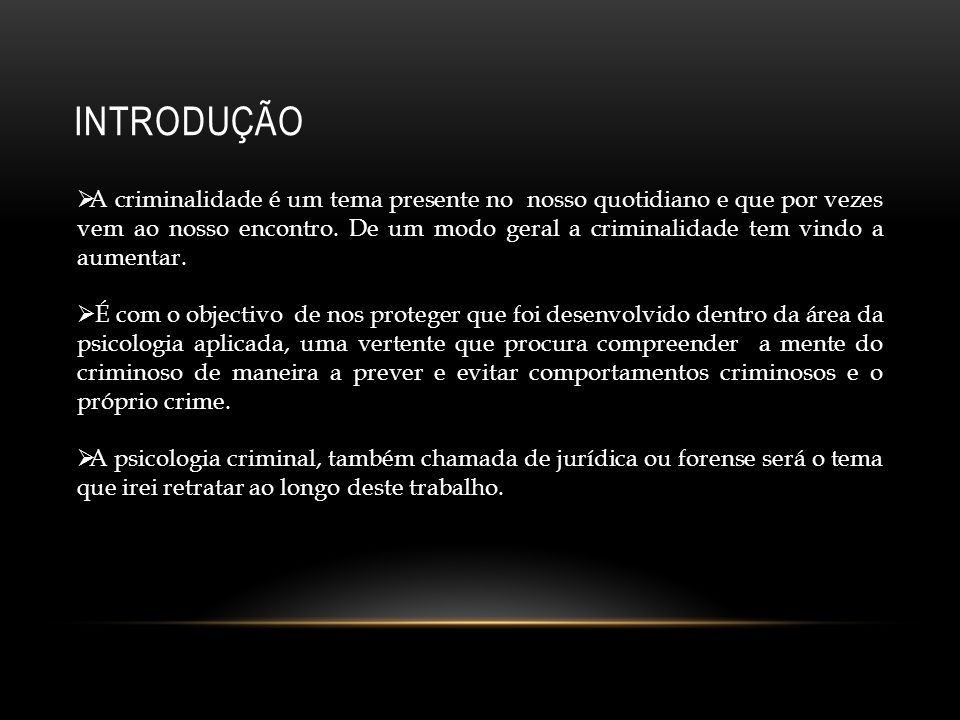 O QUE É A PSICOLOGIA CRIMINAL.