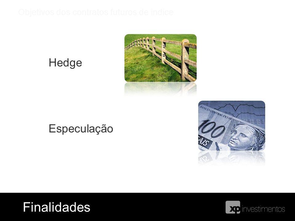 Hedge Especulação Objetivos dos contratos futuros de indice FinalidadesFinalidades
