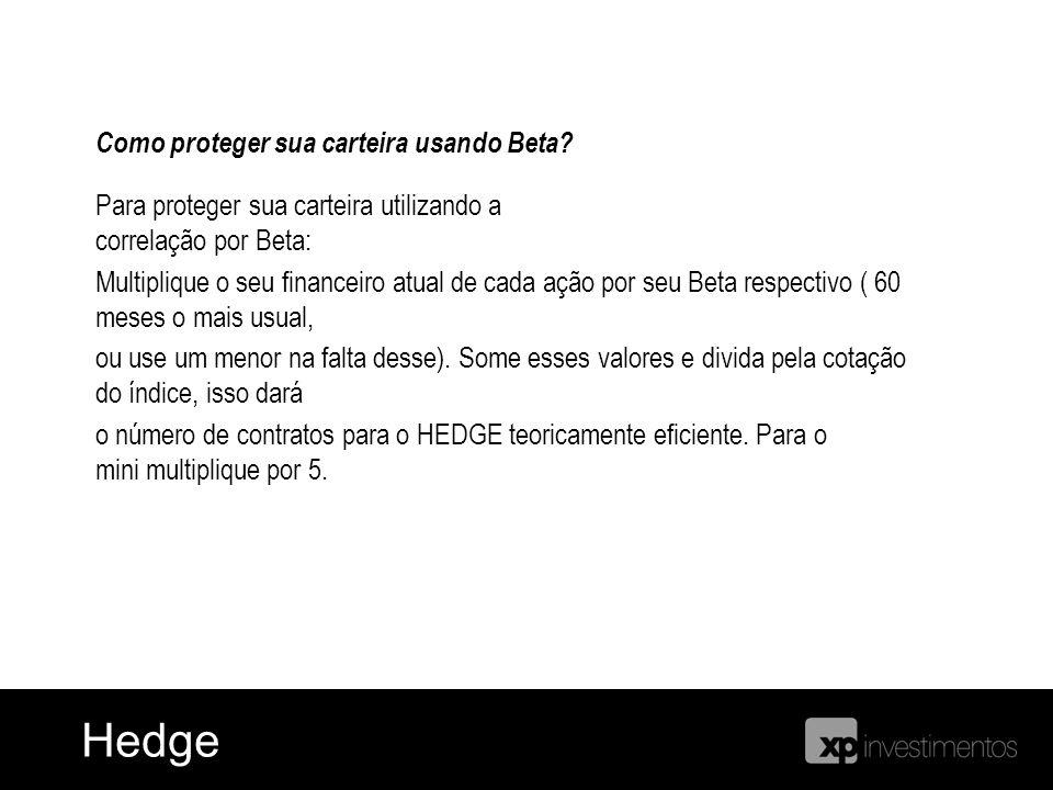 Hedge de Índice HedgeHedge Como proteger sua carteira usando Beta? Para proteger sua carteira utilizando a correlação por Beta: Multiplique o seu fina