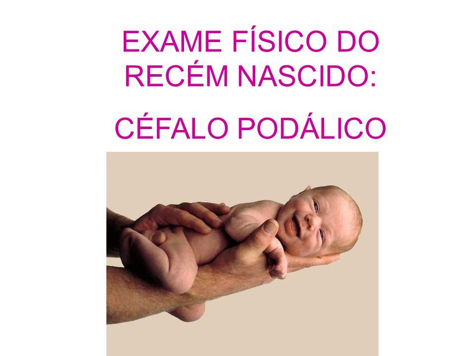 EXAME FÍSICO DO RECÉM NASCIDO: CÉFALO PODÁLICO