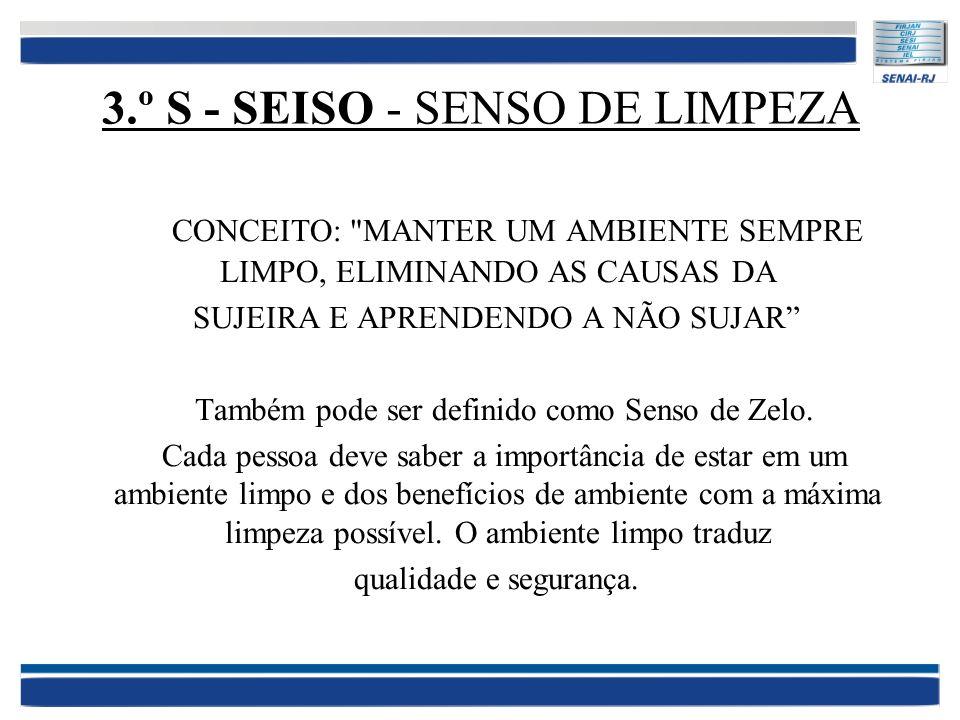 3.º S - SEISO - SENSO DE LIMPEZA CONCEITO: