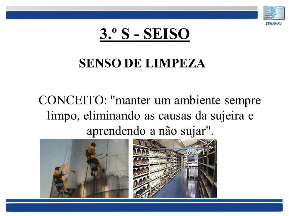 3.º S - SEISO SENSO DE LIMPEZA CONCEITO: