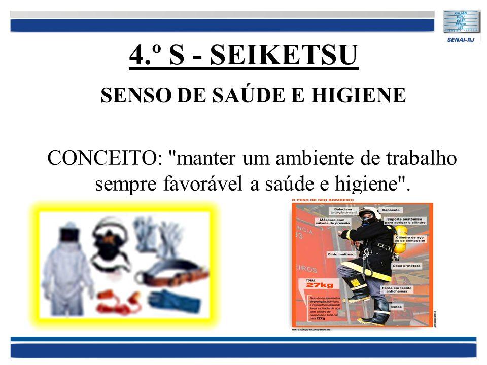 4.º S - SEIKETSU SENSO DE SAÚDE E HIGIENE CONCEITO: