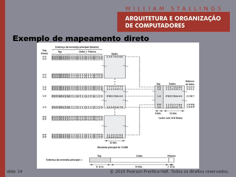 © 2010 Pearson Prentice Hall. Todos os direitos reservados.slide 34 Exemplo de mapeamento direto