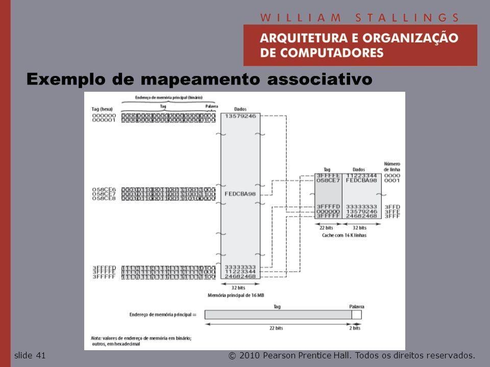 © 2010 Pearson Prentice Hall. Todos os direitos reservados.slide 41 Exemplo de mapeamento associativo