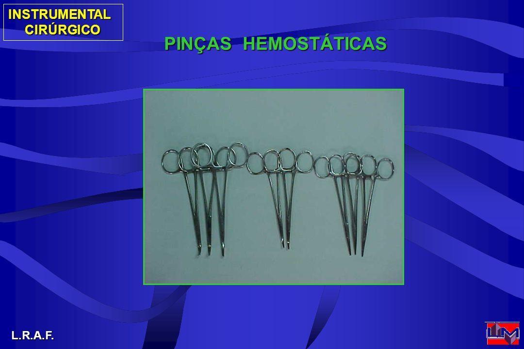 INSTRUMENTALCIRÚRGICO L.R.A.F. PINÇAS HEMOSTÁTICAS