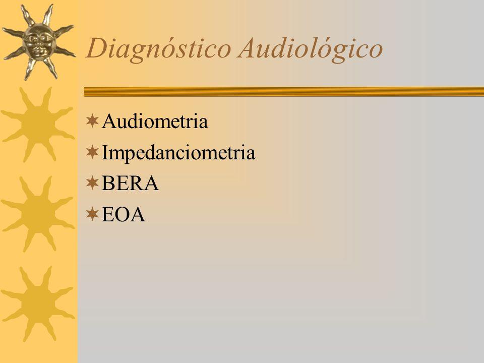 Diagnóstico Audiológico Audiometria Impedanciometria BERA EOA