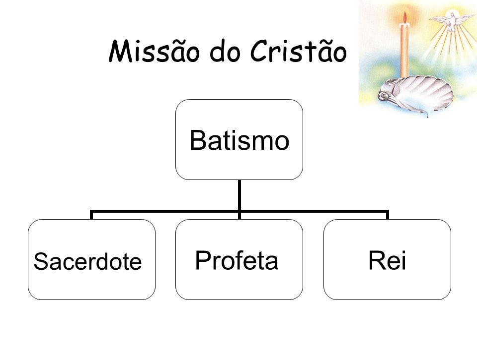 Missão do Cristão Batismo SacerdoteProfetaRei