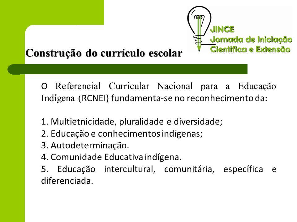 O Referencial Curricular Nacional para a Educação Indígena ( RCNEI) fundamenta-se no reconhecimento da: 1. Multietnicidade, pluralidade e diversidade;