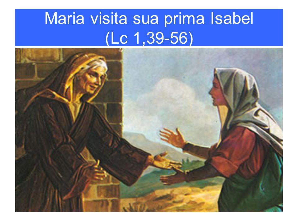 Maria visita sua prima Isabel (Lc 1,39-56)