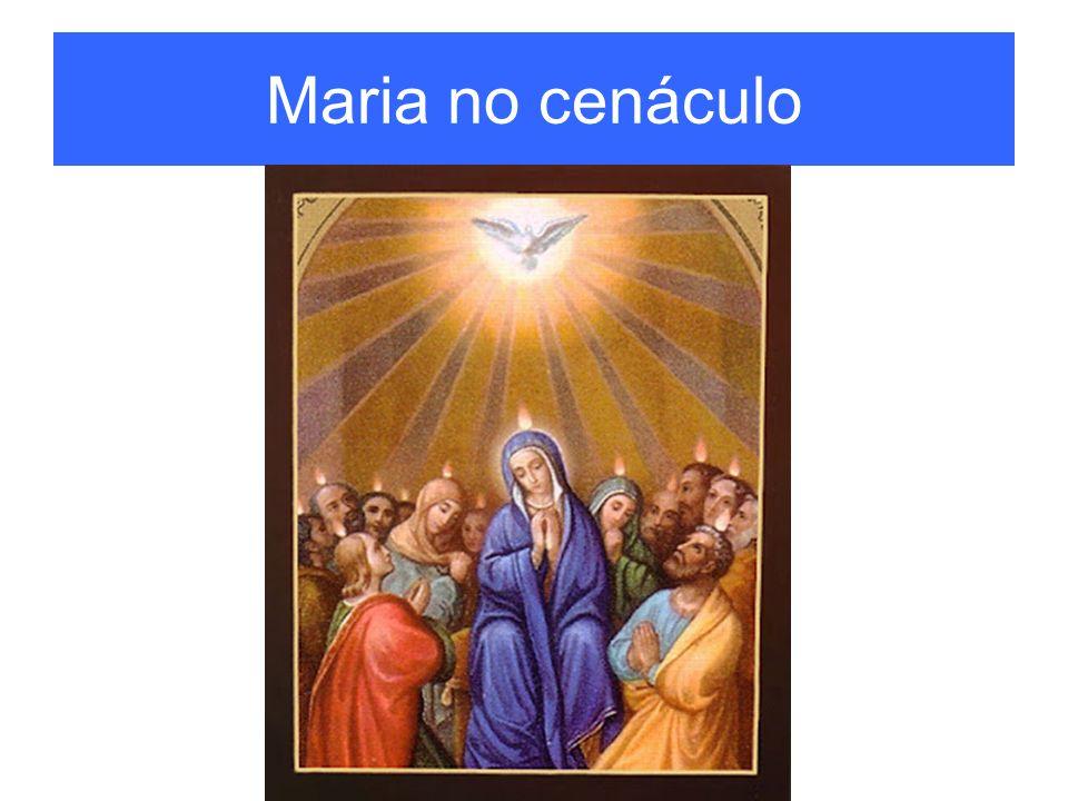 Maria no cenáculo