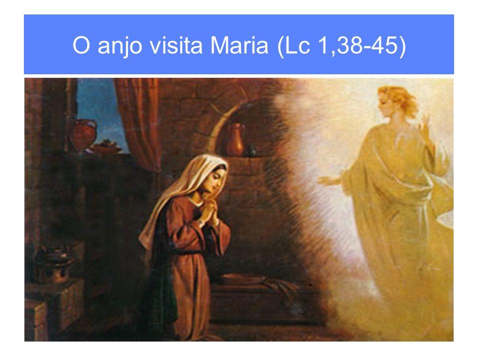 O anjo visita Maria (Lc 1,38-45)