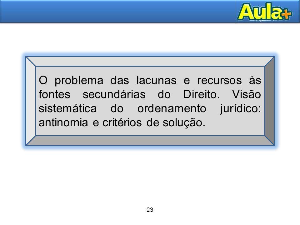 26 24 A unidade do ordenamento jurídico Norberto Bobbio trabalha com o conceito de ordenamento jurídico, como um conjunto ou complexo de normas.