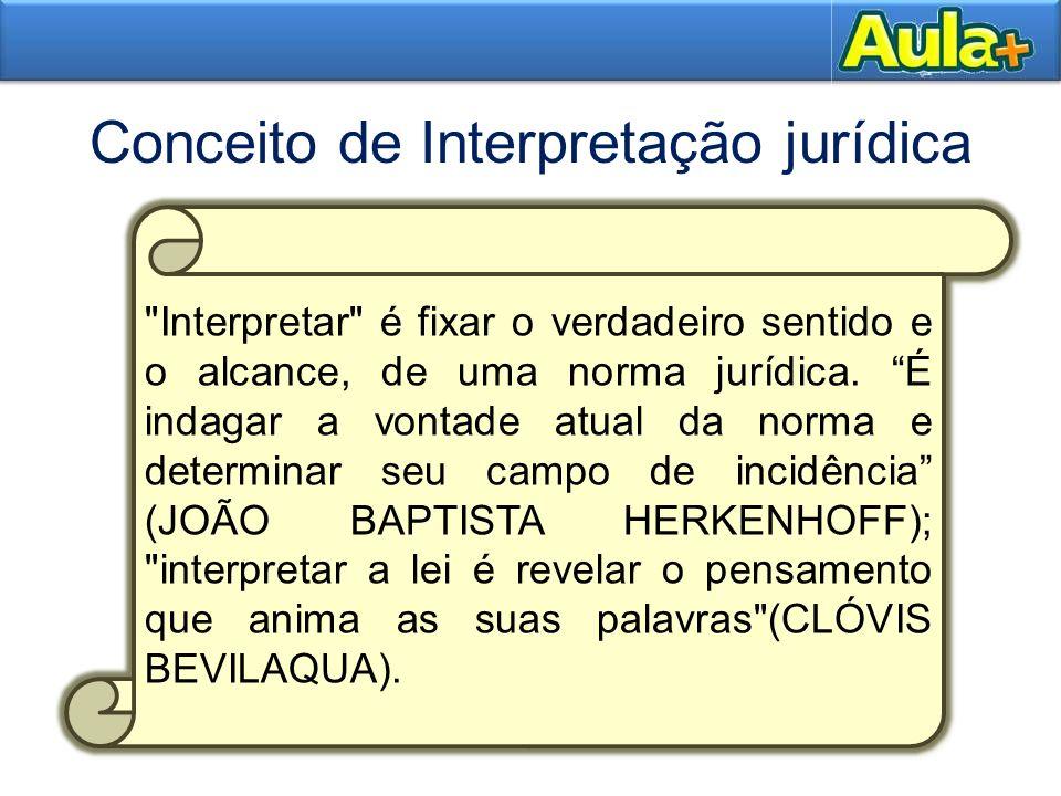 8AULA 1 Três elementos que integram o conceito de interpretação: 8 Revelar o seu sentido: isso não significa somente conhecer o significado das palavras, mas, sobretudo descobrir a finalidade da norma jurídica.