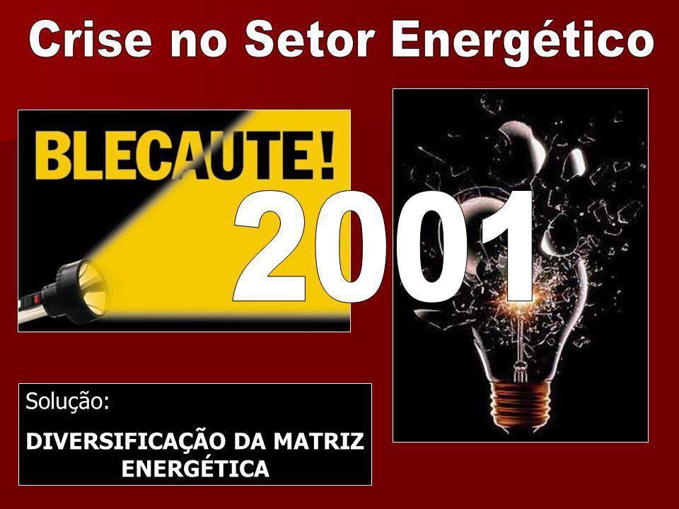 Solução: DIVERSIFICAÇÃO DA MATRIZ ENERGÉTICA