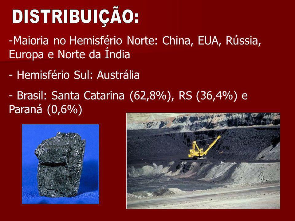 -Maioria no Hemisfério Norte: China, EUA, Rússia, Europa e Norte da Índia - Hemisfério Sul: Austrália - Brasil: Santa Catarina (62,8%), RS (36,4%) e P