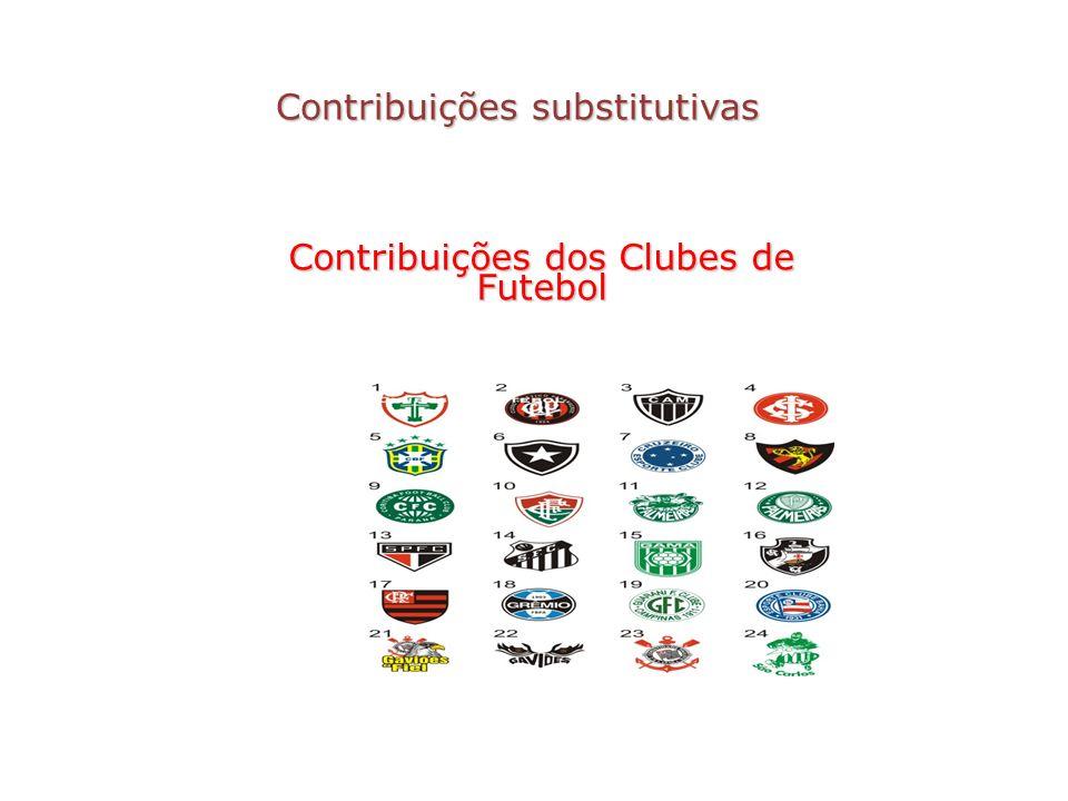 Contribuições substitutivas Contribuições dos Clubes de Futebol