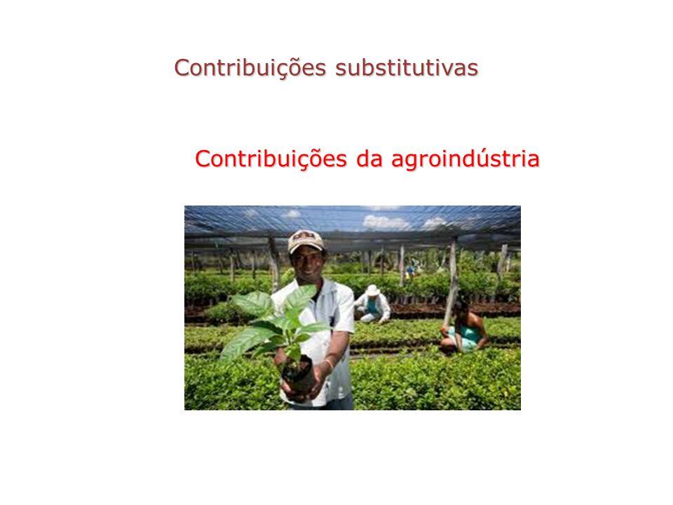 Contribuições substitutivas Contribuições da agroindústria