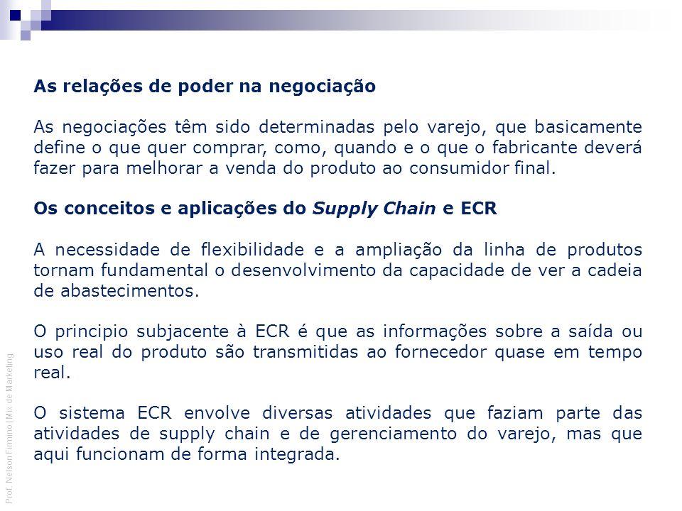 Prof. Nelson Firmino | Mix de Marketing As relações de poder na negociação As negociações têm sido determinadas pelo varejo, que basicamente define o