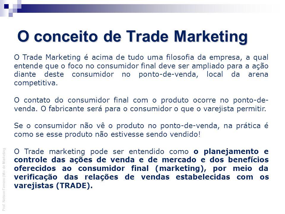 Prof. Nelson Firmino | Mix de Marketing O Trade Marketing é acima de tudo uma filosofia da empresa, a qual entende que o foco no consumidor final deve