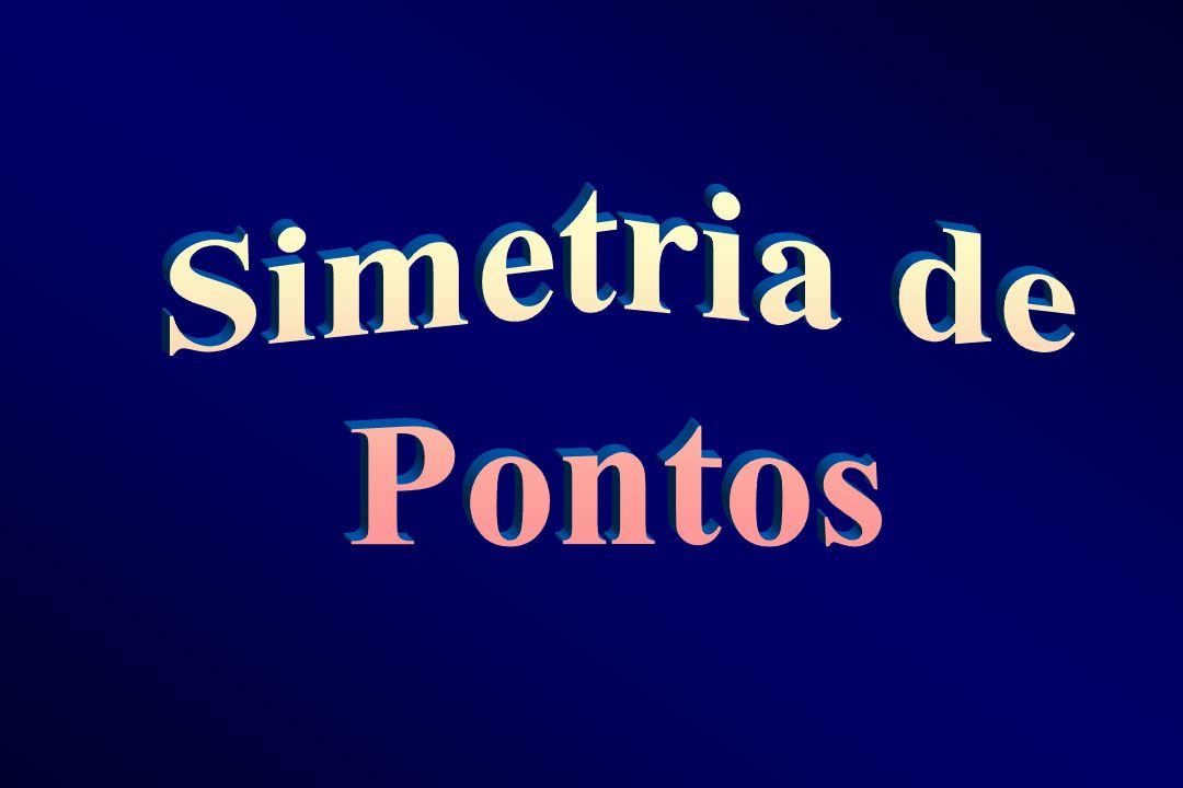S IMETRIA DE P ONTOS (A) ( ) (B) (M) Dois pontos (A) e (B) são simétricos em relação à um plano ( ), quando este plano é o mediador do segmento formado pelos dois pontos.
