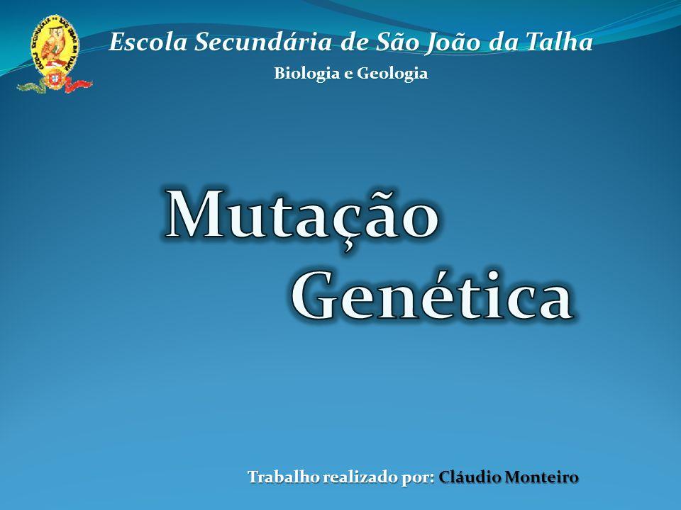 Mutação Genética: O genoma de um indivíduo pode sofrer alterações, que se designam por mutações.