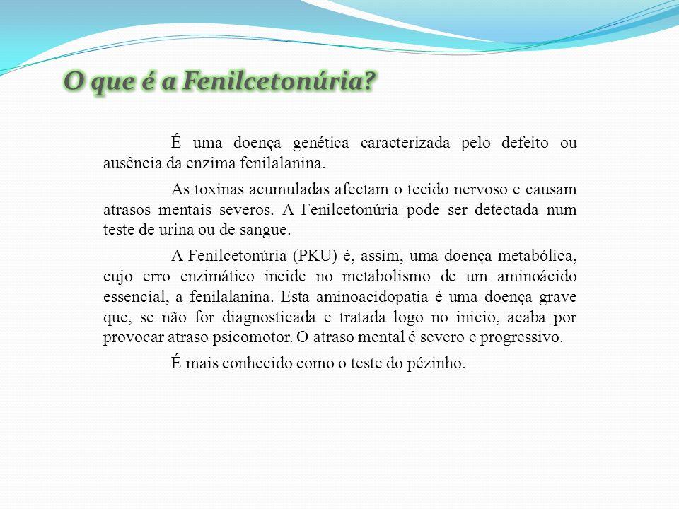 A doença Fenilcetonúria é provocada por uma mutação genética recessiva.
