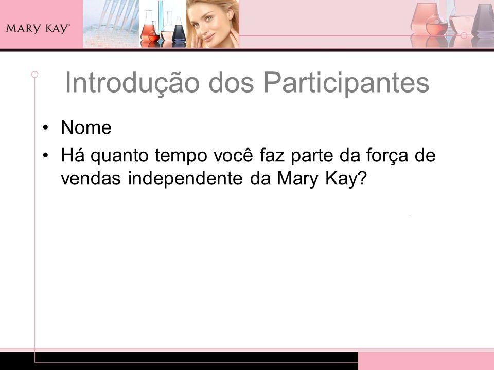 Introdução dos Participantes Nome Há quanto tempo você faz parte da força de vendas independente da Mary Kay?