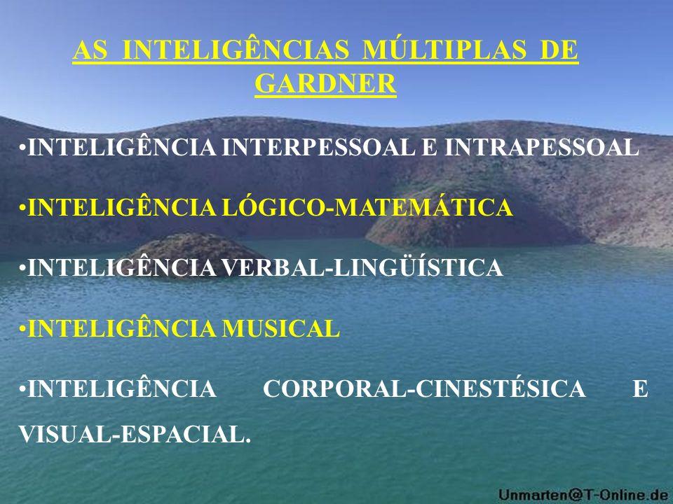 INTELIGÊNCIA INTERPESSOAL E INTRAPESSOAL INTELIGÊNCIA LÓGICO-MATEMÁTICA INTELIGÊNCIA VERBAL-LINGÜÍSTICA INTELIGÊNCIA MUSICAL INTELIGÊNCIA CORPORAL-CIN