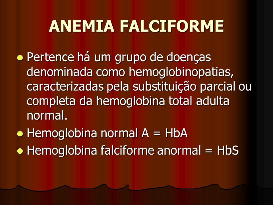 Pertence há um grupo de doenças denominada como hemoglobinopatias, caracterizadas pela substituição parcial ou completa da hemoglobina total adulta no
