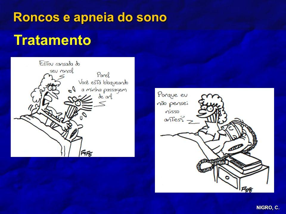 NIGRO, C. Roncos e apneia do sono Tratamento