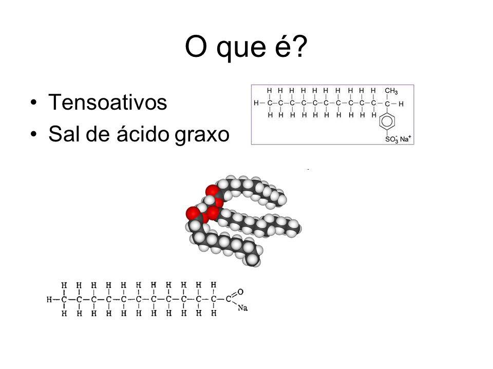 O que é? Tensoativos Sal de ácido graxo