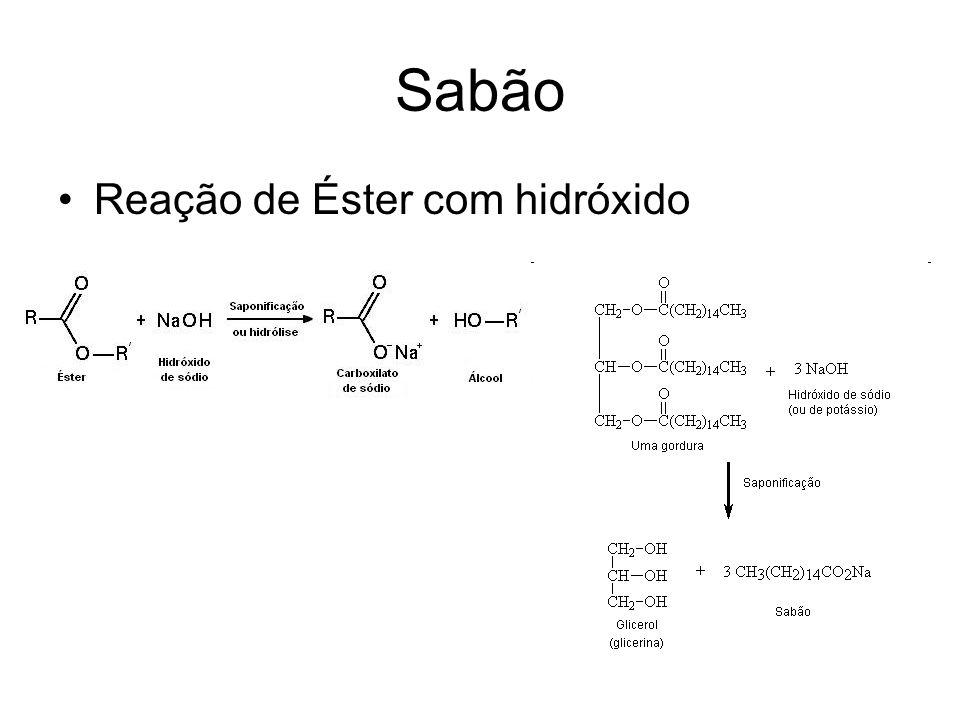 Reação de Éster com hidróxido