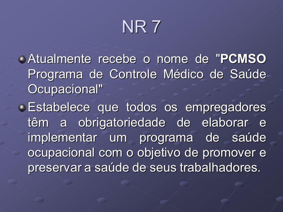PCMSO Obrigatoriedade da elaboração e implementação do PCMSO.