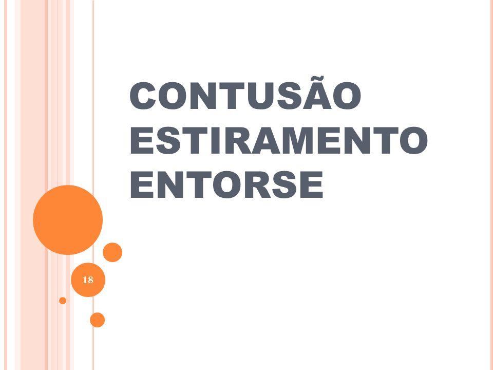 CONTUSÃO ESTIRAMENTO ENTORSE 18