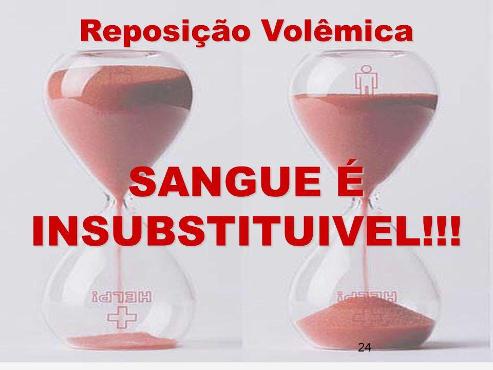 Reposição Volêmica SANGUE É INSUBSTITUIVEL!!! 24