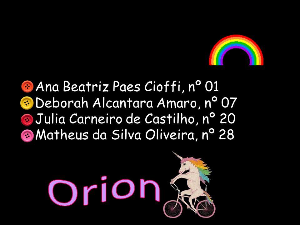 Ana Beatriz Paes Cioffi, nº 01 Deborah Alcantara Amaro, nº 07 Julia Carneiro de Castilho, nº 20 Matheus da Silva Oliveira, nº 28