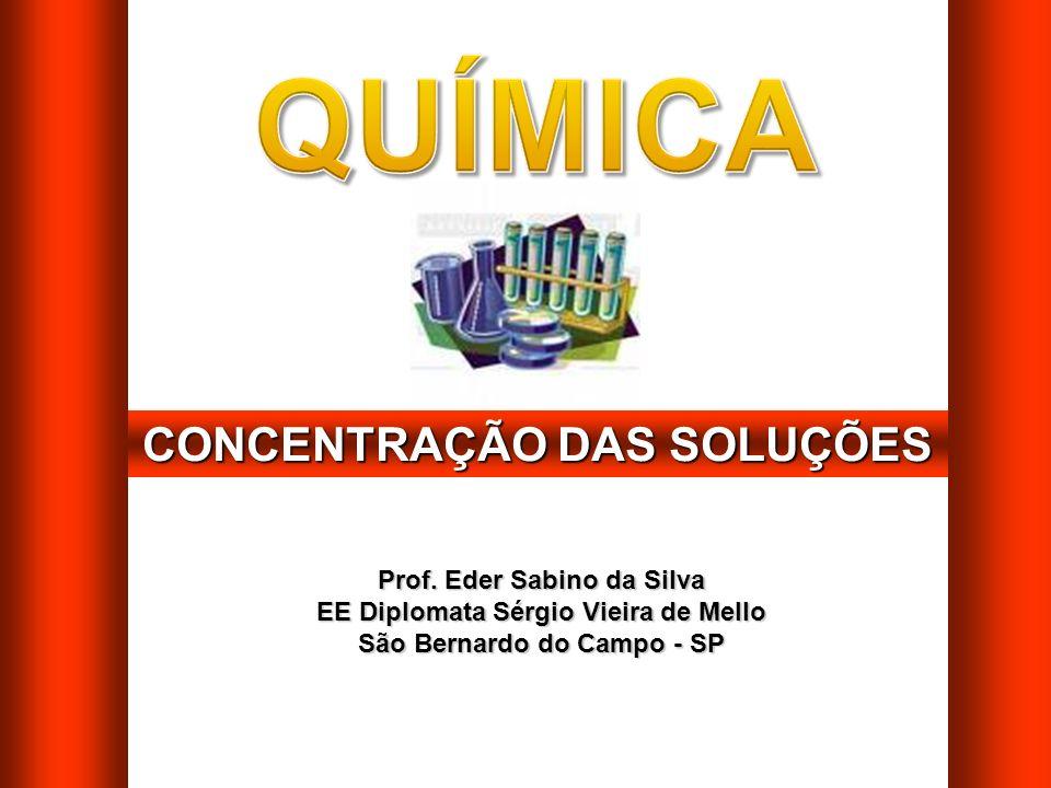 CONCENTRAÇÃO DAS SOLUÇÕES Prof.
