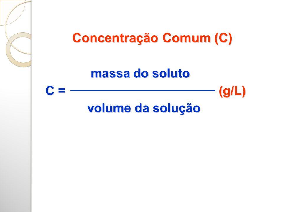 MISTURA DE SOLUÇÕES DE MESMO SOLUTO: SOMAMOS AS QUANTIDADES DO SOLUTO SOLUÇÃO 1 + SOLUÇÃO 2 = SOLUÇÃO 3 + = m1= C1.