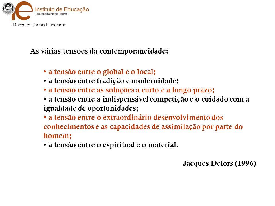 Docente: Tomás Patrocínio A globalização é um processo incontornável.
