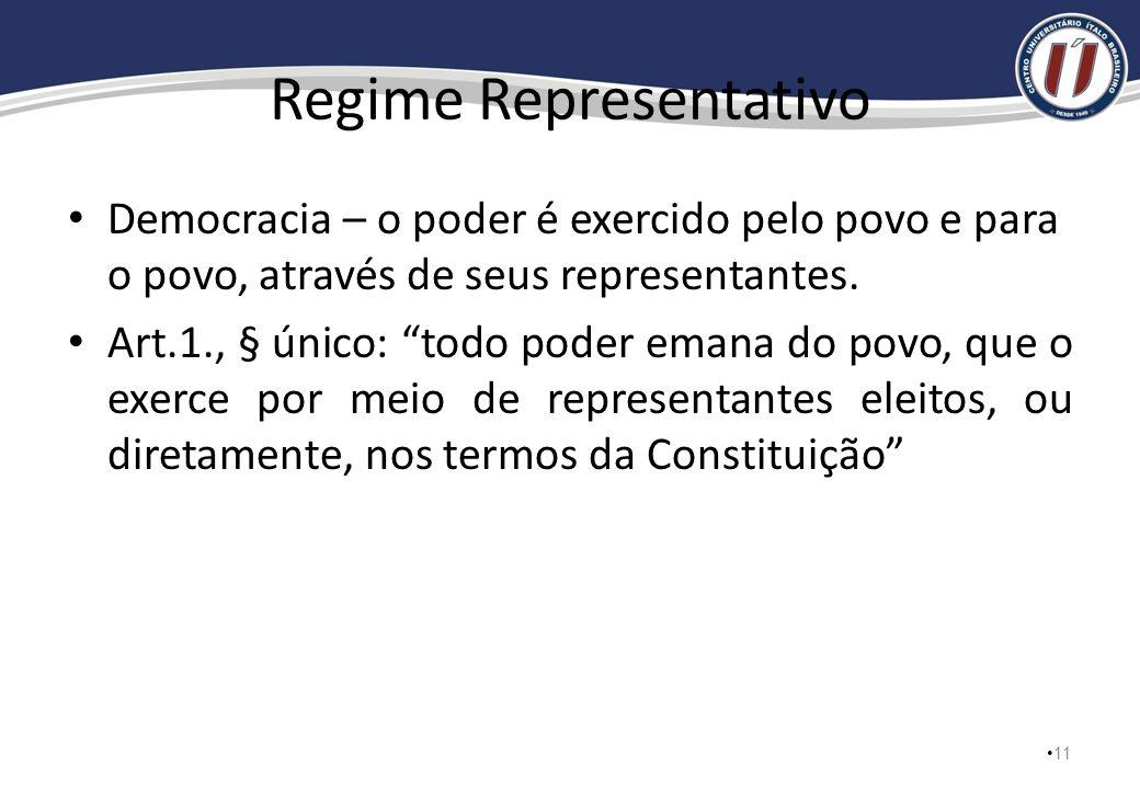 Constituição Federal: Princípios Fundamentais Art. 1., CF: A República Federativa do Brasil, formada pela união indissolúvel dos Estados e Municípios