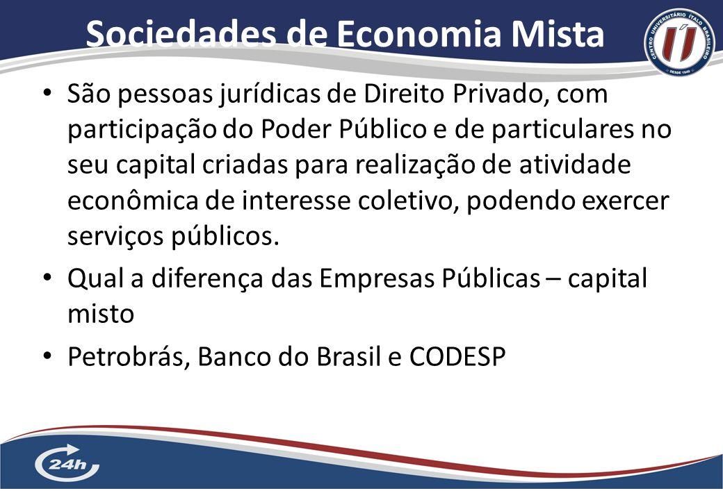 Empresas Públicas 6 A exploração da atividade econômica deve ser realizada, de uma forma geral, pelo setor privado, mas excepcionalmente tal atividade