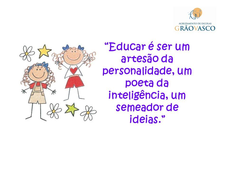Educar é ser um artesão da personalidade, um poeta da inteligência, um semeador de ideias.
