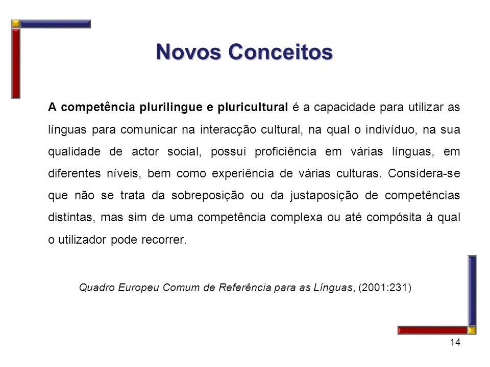 A competência plurilingue e pluricultural é a capacidade para utilizar as línguas para comunicar na interacção cultural, na qual o indivíduo, na sua q