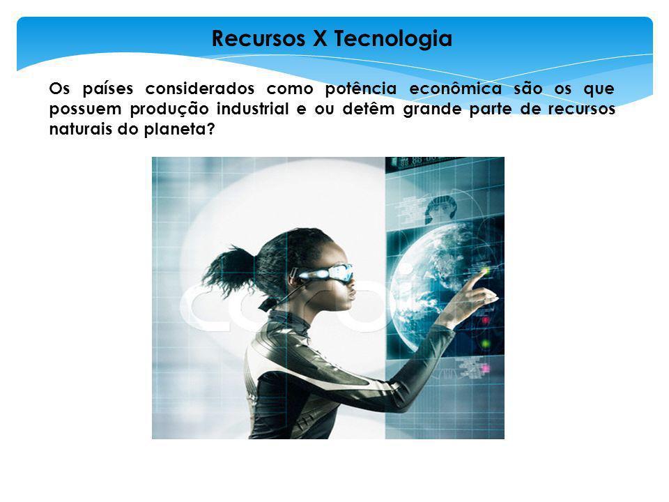 As potências controlam boa parte da tecnologia utilizada no planeta ou mantém diversos países sob sua dependência financeira.