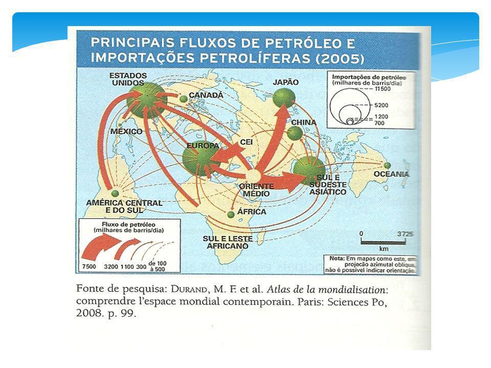 As sete empresas estatais que controlam cerca de um terço do mercado mundial de petróleo e gás natural são: 1- AramcoArábia Saudita 2-Gaz promRússia 3-CNPCChina 4-NiocIrã 5-PDVSAVenezuela 6-PetrobrásBrasil 7- PetronasMalásia Membros da OPEP: Angola, Arábia Saudita, Argélia, Emirados Árabes Unidos, Irã, Indonésia, Iraque, Kuwait, Líbia, Nigéria, Qatar e Venezuela.