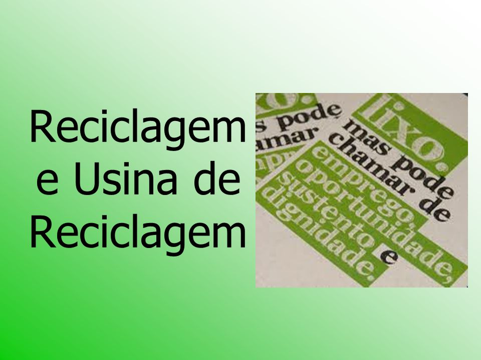 Referências: http://www.lixo.com.br/site_antigo/www.lixo.com.br/usina.htmhttp://www.lixo.com.br/site_antigo/www.lixo.com.br/usina.htm http://www.sibr.com.br/sibr/portal.jsp?id=12&pagina=arti go.jsp&artigo_id=119http://www.sibr.com.br/sibr/portal.jsp?id=12&pagina=arti go.jsp&artigo_id=119 http://www.suapesquisa.com/reciclagem/ http://www.bndes.gov.br/SiteBNDES/export/sites/default/ bndes_pt/Galerias/Arquivos/conhecimento/livro_ideias/li vro-10.pdfhttp://www.bndes.gov.br/SiteBNDES/export/sites/default/ bndes_pt/Galerias/Arquivos/conhecimento/livro_ideias/li vro-10.pdf http://sanambiental.blogspot.com/2010/02/liberado-1- aterro-sanitario-em-sergipe.htmlhttp://sanambiental.blogspot.com/2010/02/liberado-1- aterro-sanitario-em-sergipe.html http://sysinfonetteste.infonet.com.br/cidade/ler.asp?id=6 4008&titulo=cidadehttp://sysinfonetteste.infonet.com.br/cidade/ler.asp?id=6 4008&titulo=cidade