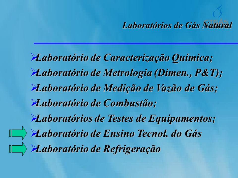 Laboratórios de Gás Natural Laboratório de Caracterização Química; Laboratório de Caracterização Química; Laboratório de Metrologia (Dimen., P&T); Lab